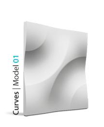 Panel dekoracyjny 3D Curves