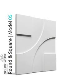 Panel dekoracyjny 3D Round & Square
