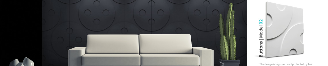 Panel dekoracyjny ścienny buttons