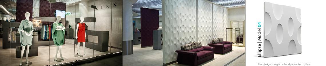 panel dekoracyjny ścienny ellipse
