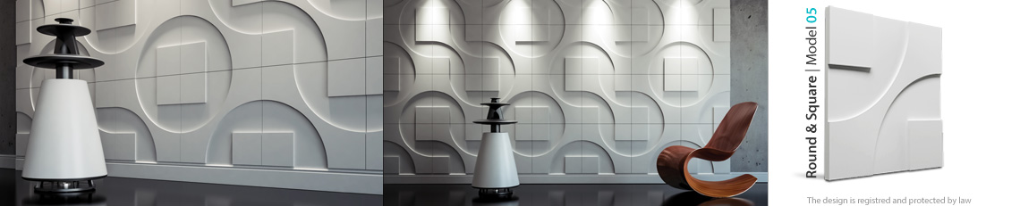 panel dekoracyjny ścienny round & Square