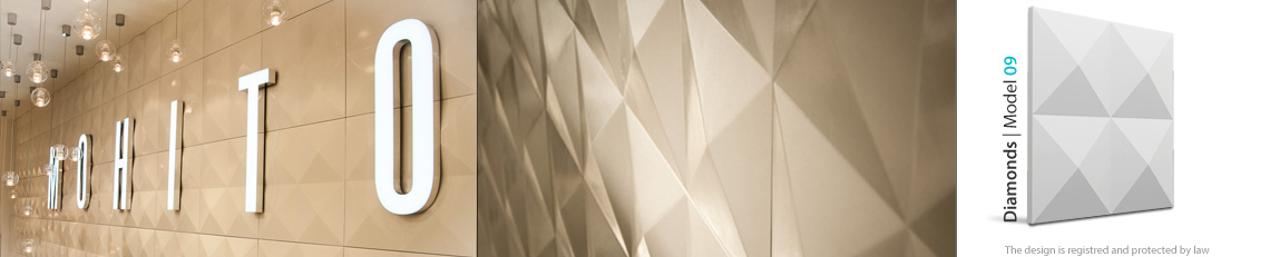 panel dekoracyjny ścienny diamonds