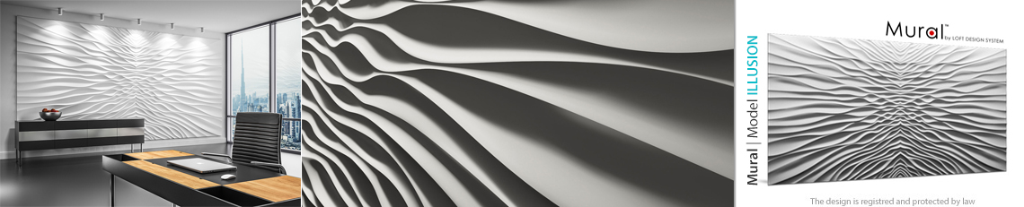 model mural illusion