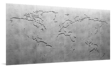 Concrete Map of The world
