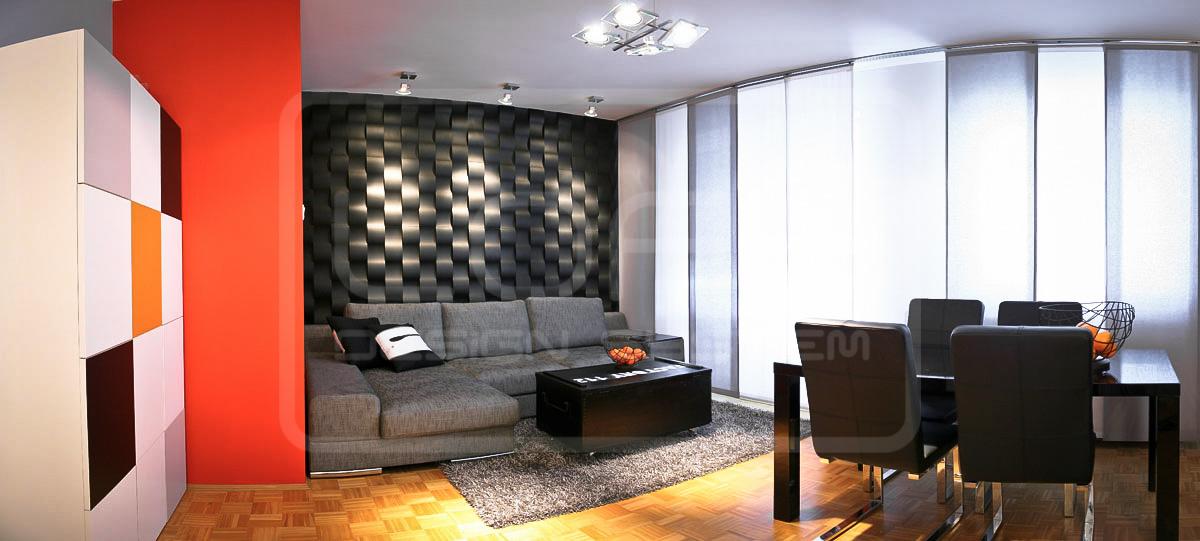 Panele dekoracyjne twist salon