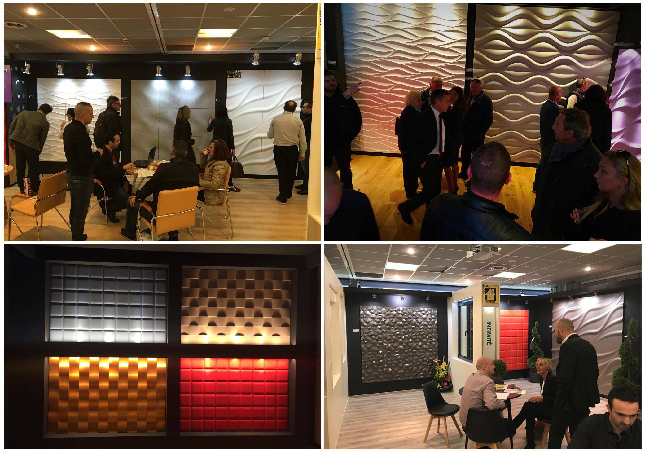 ekspozycja panele dekoracyjjne 3D