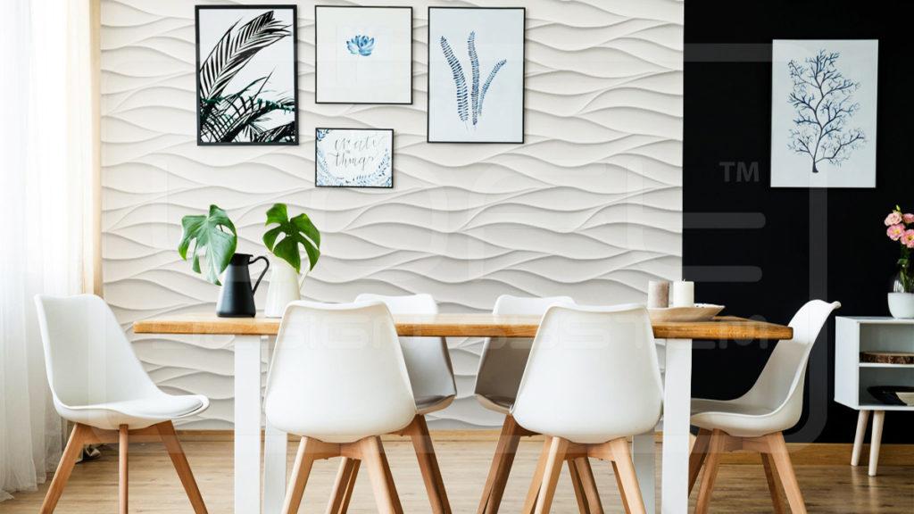 panele ścienne 3d panele dekoracyjne loft design system model 21 Sand Storm Jadalnia