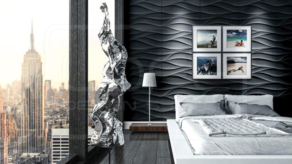 panele ścienne 3d panele dekoracyjne loft design system model 21 Sand Storm